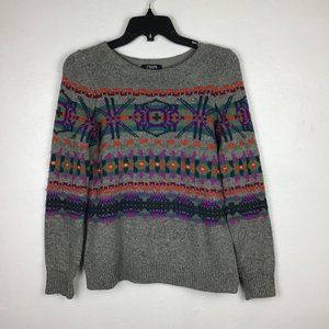CHAPS Navajo Tribal Long Sleeve Sweater Petite SM